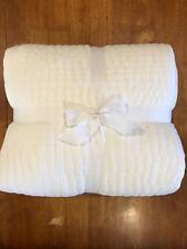 New Pottery Barn New Pick-Stitch Quilt King, Cal. King White