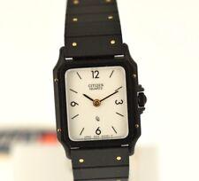 Citizen Quarz 82-3163-11 - Black steel bracelet - 1980 - NEW(NOS)