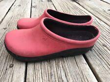 Turf King Sloggers Gardener's Slip On Clogs Shoes Pink Size 7 Women's