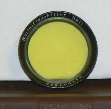 Rolleiflex Yellow Filter in Afga Leather Lens Case
