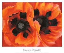 Oriental Poppies, 1928 by Georgia O'Keeffe Art Print Floral Poster 30x25