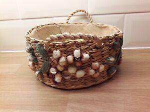 Vintage Woven Rattan/Straw Basket