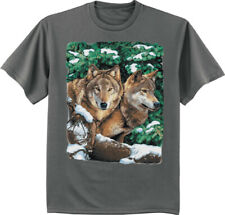 Wolf T-shirt Mens Graphic Tees Wolves Wolf Pack Clothing Apparel Tee