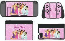 Nintendo Switch PERSONALISED PINK DISNEY PRINCESS Sticker Skins Decals cover