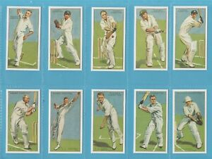 Players Cigarette Cards - CRICKETERS 1930 - Full set