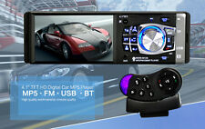 Bluetooth IN Dash Car HD Stereo MP5 Player 1 DIN AUX FM Audio Video RCA Output