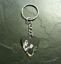 Bruce Lee Guitar Pick Music Keychain Pendant Charm Collectible Gift Present