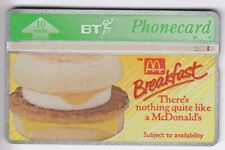EUROPE  TELECARTE / PHONECARD .. U.K 10U BT L&G 368B MC DONALD'S BREAKFAST