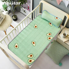 Insular Summer Baby Latex Mattress Cool Bedding Ice Silk Mat Include Pillow Set