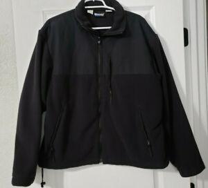 Blauer Softshell Fleece Jacket Reg L Dark Navy Law Enforcement 9840Z Full Zip