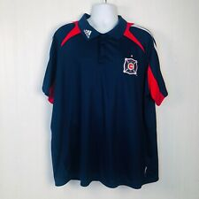 ADIDAS AUTHENTIC MLS TEAM JERSEY CHICAGO FIRE BLUE SIZE 2XL
