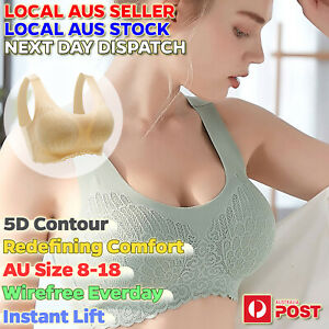 Wireless Sports Bras 5D Contour Seamless Push Up Bra Lace Comfort Lift Full Cup