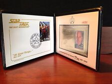 Star Trek Tng All Good Things 1994 Commemorative Gold Stamp & 1st Day Cover Set