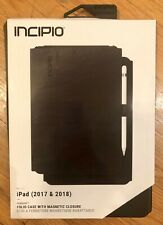 "New Incipio Faraday Folio Magnetic Case Apple iPad 2017 & 2018 9.7"" - Black"