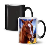 Face Wild Animal Horse NEW Colour Changing Tea Coffee Mug 11 oz   Wellcoda
