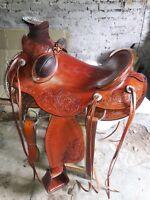 16'' western heavy duty wade ranch roper saddle