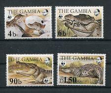 Gambia 517/20 postfrisch / WWF - Krokodile ...............................1/3493