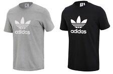 Adidas Men Originals Trefoil S/S Shirts Black Gray Jersey Top Tee Shirt Cy4574