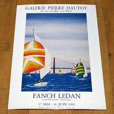 FANCH LEDAN manifesto poster Lithographies Peintures Galerie Pierre Hautot Paris