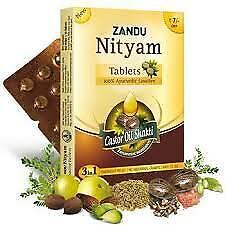 Zandu Nityam 12 Tablet pure castor oil shakti  ayurvedic with free shipping