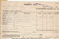 U.S. Freight Bill to Southern Pacific Co. Ore. 1907 Articles Invoice Ref 41918