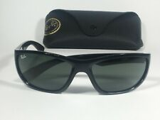 Authentic Ray-Ban Active Sport Sunglasses Black Gloss Frame Green Lens RB4188