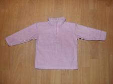 Mädchen Pullover rosa Größe 86 mit Reißverschluß langarm