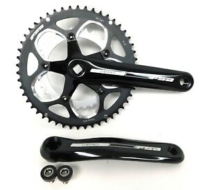 FSA Vero 9 Speed 50/34 Compact Road Crankset Square Taper Black 172.5mm  New