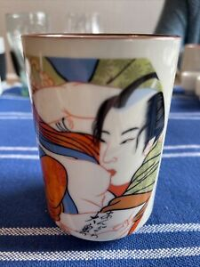 Japanische Teetasse / Teebecher mit Erotikmotiv,Teacup with erotic motif