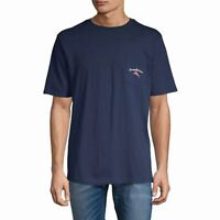 Tommy Bahama Mens T-Shirt Blue Size Small S Pass The Chips Graphic Tee $49 464