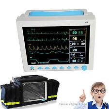 CE Patient Monitor 6 parameter NIBP SPO2 ECG/EKG Pr,temp Vital Signs Monitor,bag