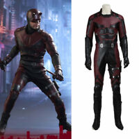 Daredevil Matthew Michael Murdock Cosplay Costume Halloween Outfit with Props