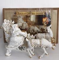 Porcelain Christmas Ensemble Grandeur Noel Collectors Edition 2000