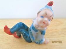 Vintage Blue Pixie Elf Ceramic Figure Made In Japan Christmas Gardens