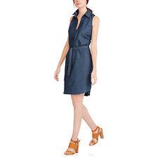 Faded Glory Women's Sleeveless Denim Dress Medium Wash Sz L (12/14) NWT