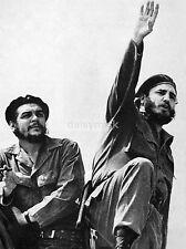 """Fidel Castro Cuban Communist Revolutianary & Che Guevara 1961 7x5"""" Reprint Photo"""