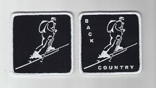 Back Country ski embroidered patch cross country XC downhill