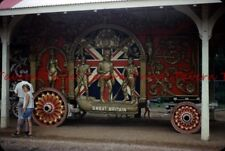 1965 WISCONSIN Baraboo Circus World Museum Great Britain Wagon 35mm Slide bj17