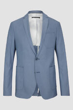 Drykorn Davis Light Blue Men's 2 Buttons Cotton Single Breasted Jacket - UK 44''