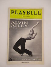 ALVIN AILEY AMERICAN DANCE THEATRE  PLAYBILL 2003 NEW YORK CITY