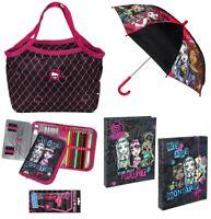 Monster High Tasche Scooli Federmappe gefüllt Regenschirm Vorschule Kindergarten
