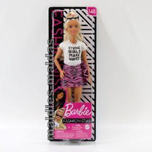 Barbie Fashionistas 148 im weißen Shirt und pinken Rock GHW62 NEU/OVP Puppe