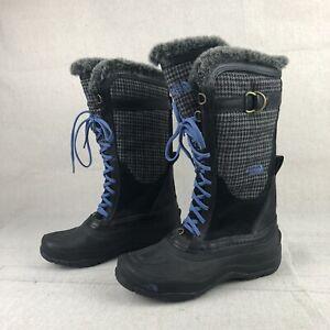 The North Face Women Size 8 TNF Winter Grip Waterproof Primaloft Faux Fur Boots
