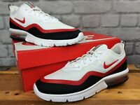 NIKE MENS UK 7.5 EU 42 AIR MAX SEQUENT 4.5 RED BLACK WHITE TRAINERS T