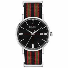 Bulova Aerojet Men's Quartz Black Dial Two-Tone Strap 39mm Watch 96B317