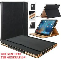 """Tan Luxury Leather Stand Flip Case Cover For New Apple iPad 10.2"""" 7th Generation"""