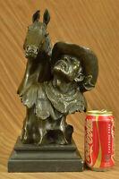Vintage Bronze Old West Cowboy On Horse Statue Sculpture Figurine Figure Decor