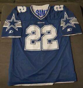 Emmitt Smith Dallas Cowboys NFL Starter Jersey 90's Reversible Blue/White 52 XL
