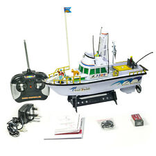 Twin Propeller Radio Remote Control Deep Sea Fishing Boat RC Water High Detail