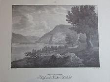 Schloss Kloster Schönbühel von Jacob Alt - Niederösterreich - Kunstblatt Reprint